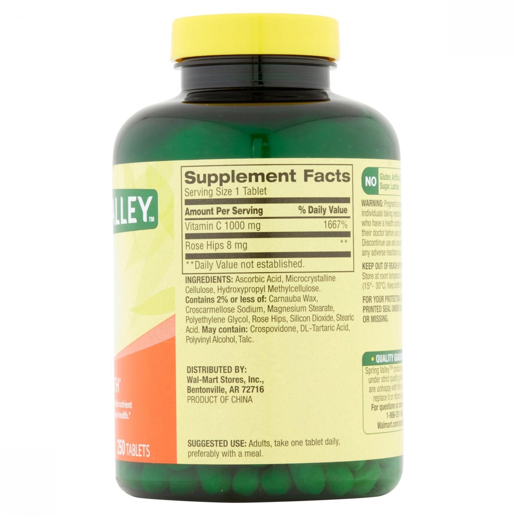 a697f1e66 Suplemento Dietario Vitamina C con Rosa Mosqueta 250 Cápsulas Spring Valley