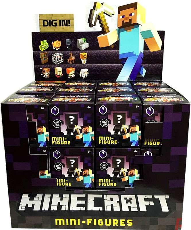 Caja misteriosa de Minecraft Minecraft obsidiana serie 4 Mini figura-634746377845-0
