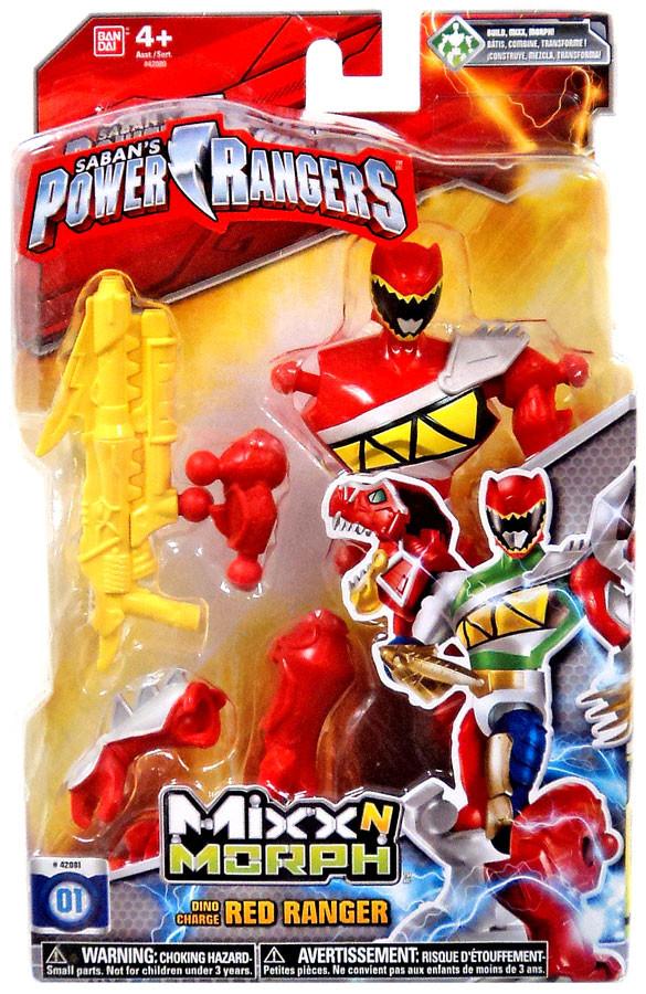 Carga de Bandai Power Rangers Mixx N Morph Dino Ranger rojo-045557420819-0