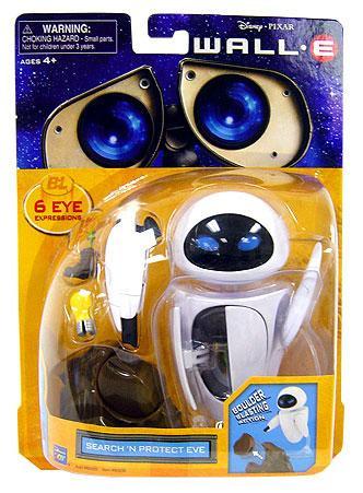 Disney / Pixar Wall-E figuras Deluxe buscan y protegen la figura de Eva-064442602307-0