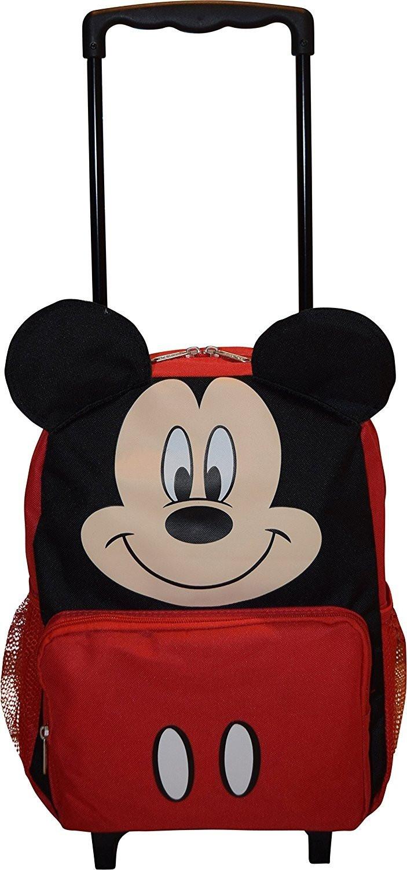 "Disney Mickey Mouse 14"" Softside Mochila Con Rueditas-727379130274-0"