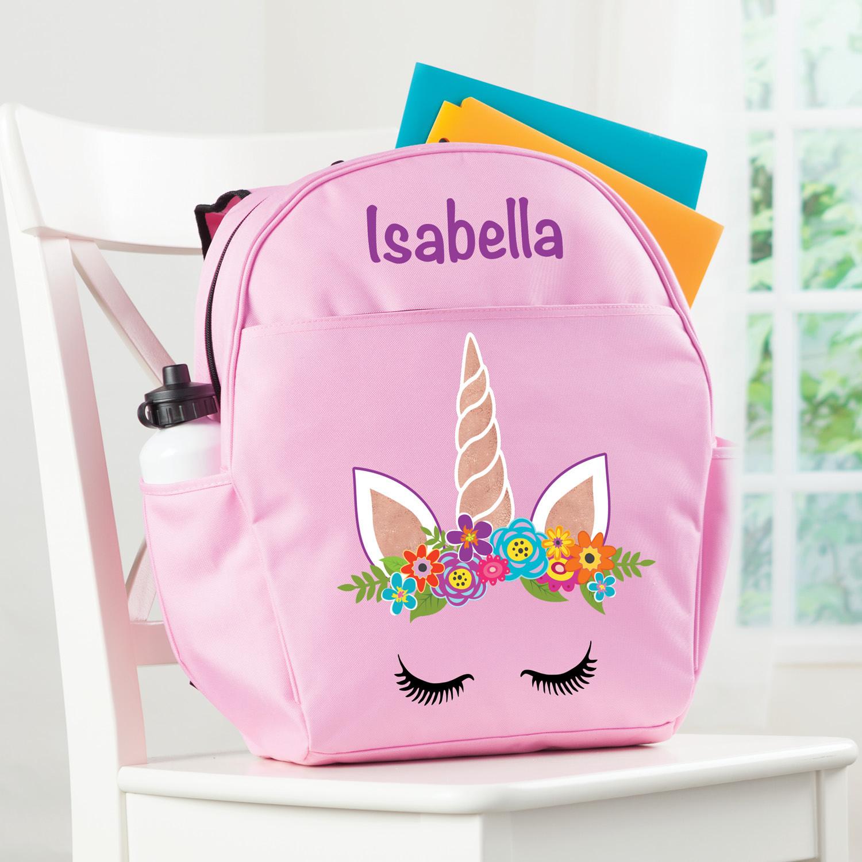 Feliz Unicornio Personalizada Mochila-639211660040-0