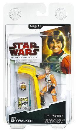 Figura de acción de Star Wars exclusivas 2009 Luke Skywalker [piloto con escalera]-653569433347-0