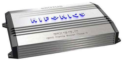 Hifonics - Brutus de 1500W de potencia de Clase D Mono MOSFET Amplificador de Subwoofer - Plata/Negro-806576223610-B-0