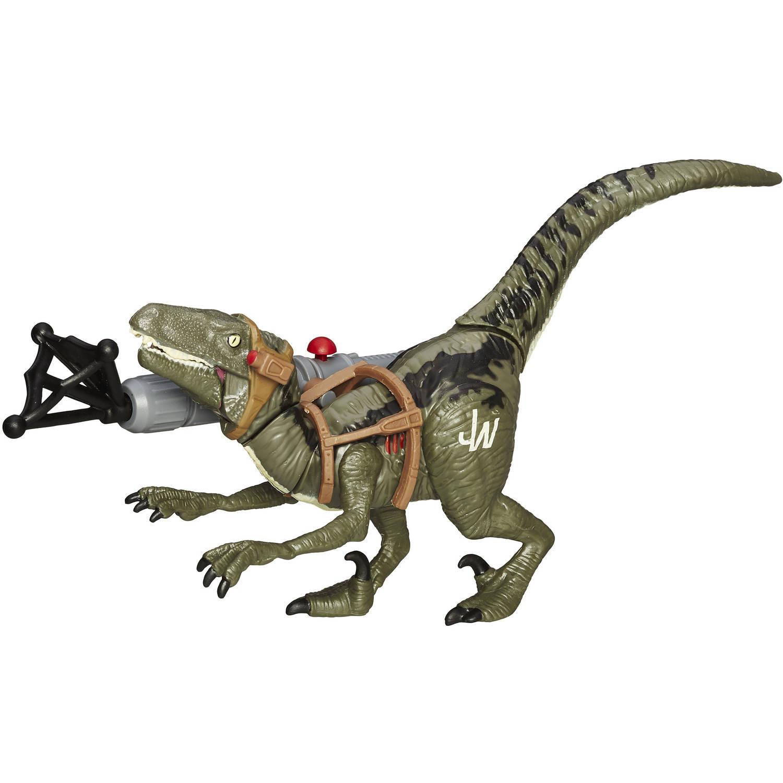 Mundo Jurásico Bashers & pinzas cortantes Velociraptor azul-630509343447-0