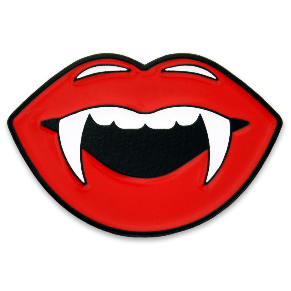 PinMart los Labios del Vampiro Con Colmillos del Pin de la Solapa del Esmalte-686908935349-0
