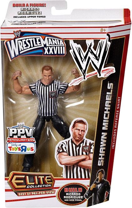 Shawn Michaels figura de acción árbitro camisa Elite mejor de Pay Per View-746775249892-0