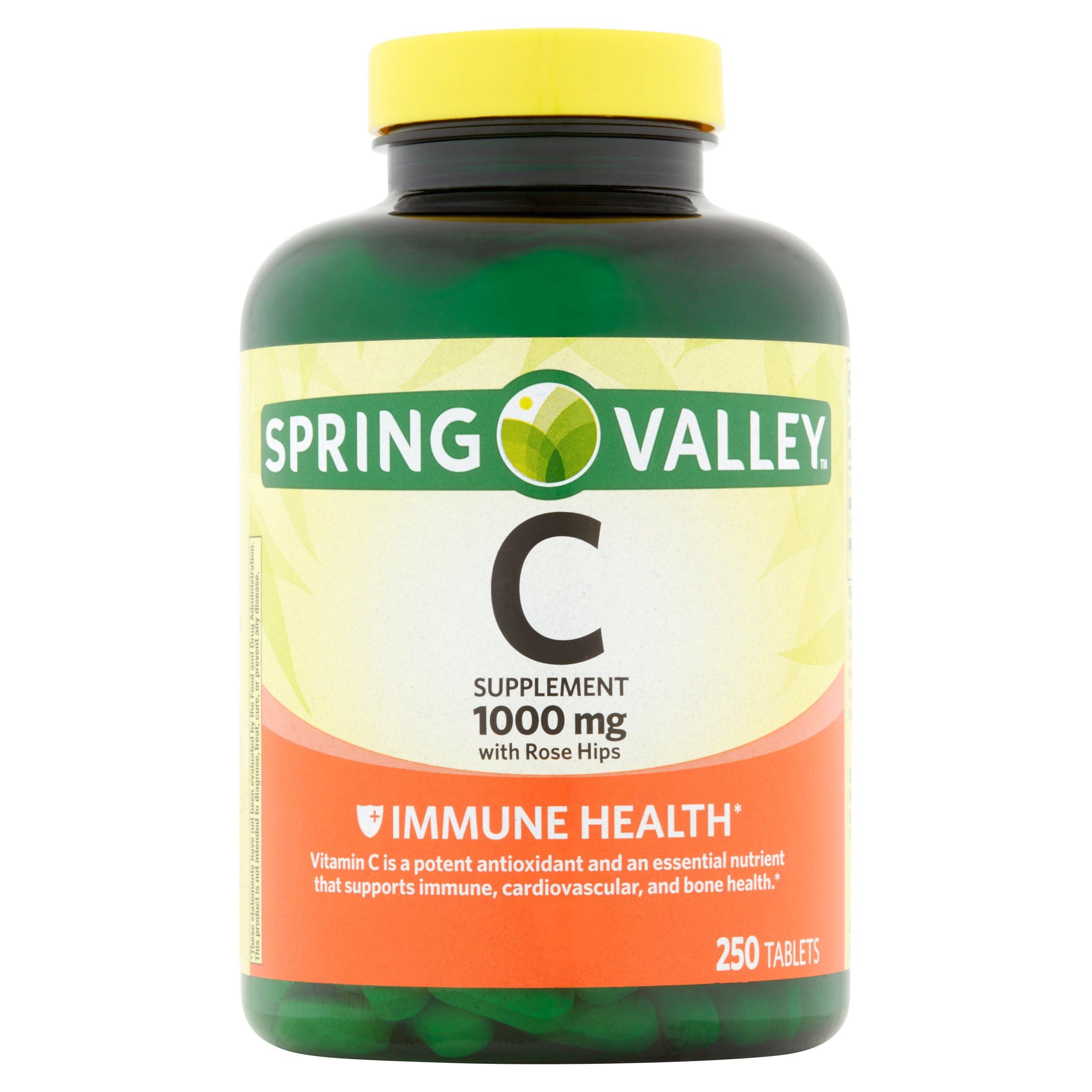 85fa078dd Suplemento Dietario Vitamina C con Rosa Mosqueta 250 Cápsulas Spring ...
