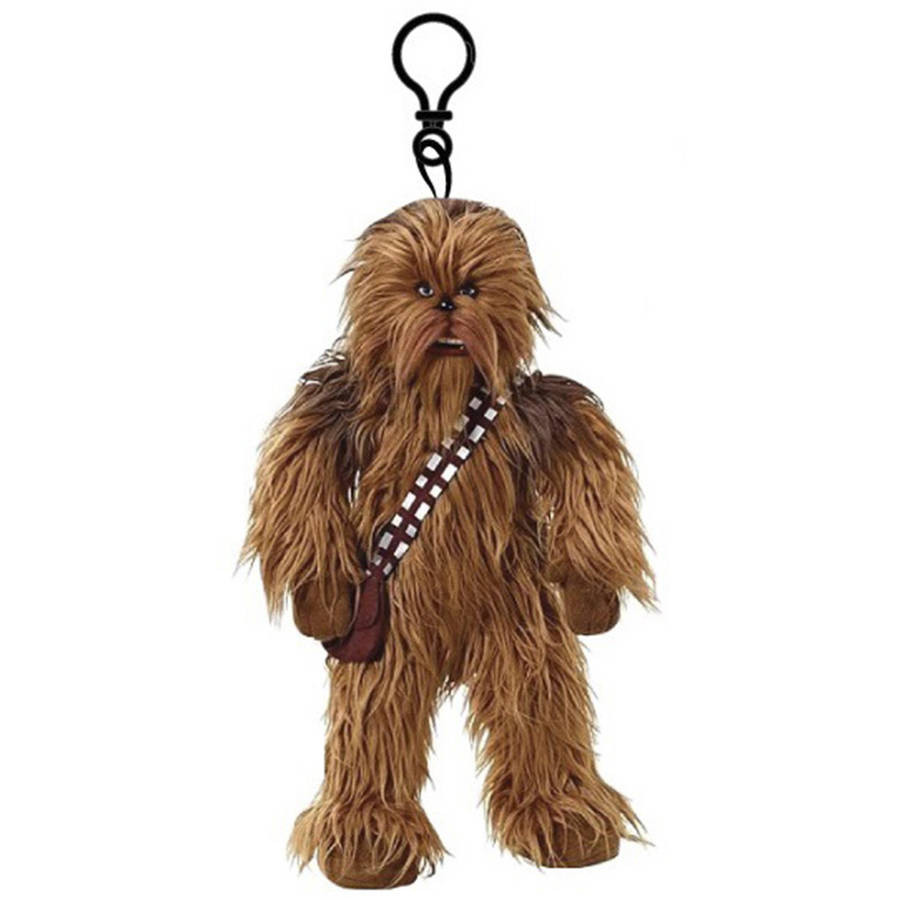 """Star Wars 8"""" con cremallera peluche Clip, Chewbacca-875598664480-0"""