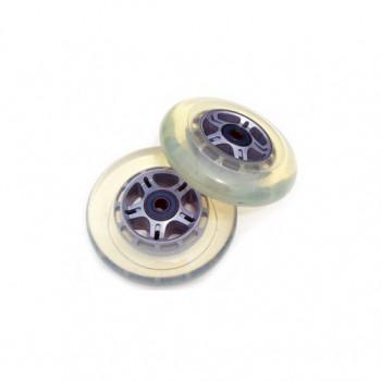 2 reemplazo claro ruedas rodamientos ABEC7 SCOOTER 100mm-61PLUWew1104-0