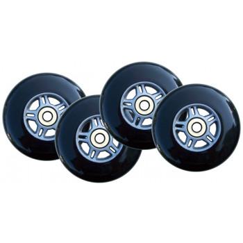 4 ruedas negro W/Abec7 rodamientos para RAZOR SCOOTER 100mm-55PLUWdt0803-0