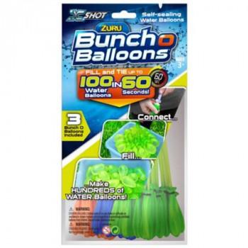 Set de 3 paquetes de globos de agua con auto-sellado Zuru Bunch o Ballons, 100 globos por paquete