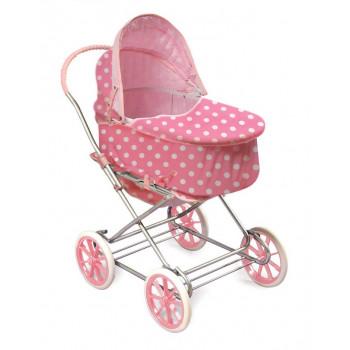 Al igual que mamá muñeca 3 en 1 cochecito, rosa con lunares blancos - muñecas de niñas americanas se adapta y mi vida como-046605735633-0