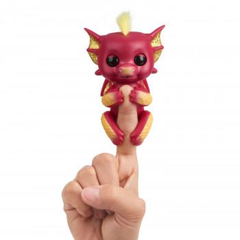 Alevines - Interactivo Bebé Dragón - Rubí (Rojo Y Oro) - Interactivo Bebé Colección De Mascotas Por WowWee - -771171135852-0