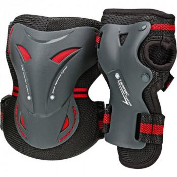 Asfalto de rodilla y muñeca protectores Combo Pack, adulto-049288514816-0