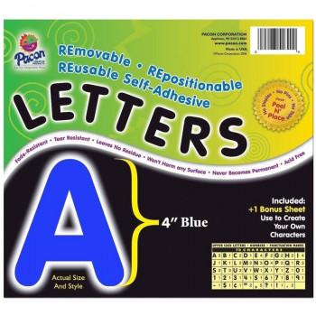 "Autoadhesivas 4"" cartas, paquete de 78, azul-045173516231-0"