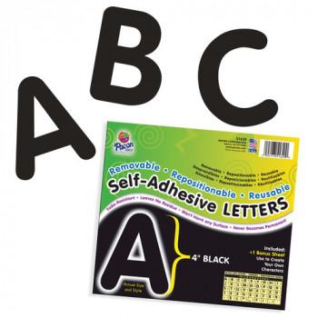 "Autoadhesivas 4"" cartas, paquete de 78, negro-045173516200-0"