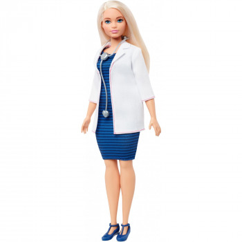 Barbie Carreras de Médico de la Muñeca, Pelo Rubio con Estetoscopio - -887961696844-0