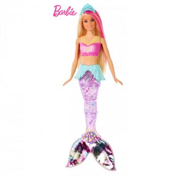 Barbie Dreamtopia Brillan las Luces de la Sirena con la Rubia & de Cabello Rosa - -887961765236-0