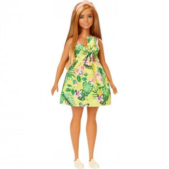 Barbie Fashionistas de Muñeca, Cuerpo con Curvas Tipo Tropical Vestido - -887961694574-0