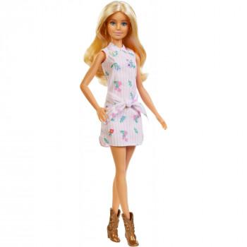 Barbie Fashionistas de la Muñeca, Original Tipo de Cuerpo con Rayas Vestido de flores - -887961694581-0