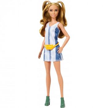 Barbie Fashionistas de la Muñeca, Original Tipo de Cuerpo con el Vestido de Mezclilla - -887961694659-0