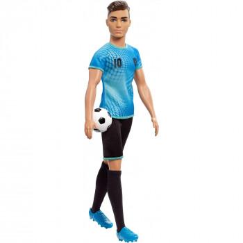 Barbie Ken Carreras Jugador de Fútbol de la Muñeca con la Pelota de Fútbol - -887961696882-0