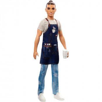 Barbie Ken Carreras de Baristas de la Muñeca con el Café Temático-Accesorios - -887961696912-0