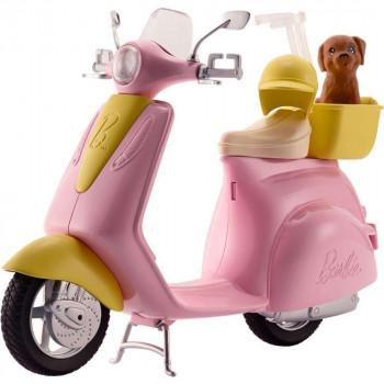 Barbie Scooter Ciclomotor con el Cachorro y el Casco-887961632866-0