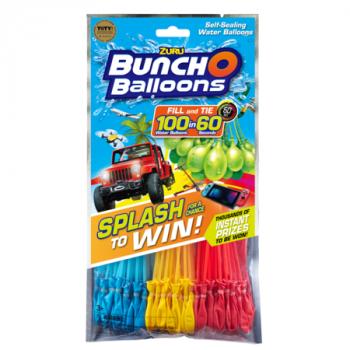 Bunch O Balloons Splash para Ganar la Promoción con 100 Rápida de Llenado de Auto-Sellado de Globos de Agua (Paquete de 3) por ZURU-845218011260-0