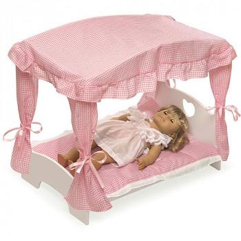 """Cama con dosel tejón cesta muñeca con ropa de cama de color - se ajusta más 18"""" muñecas y mi vida como-046605718452-0"""
