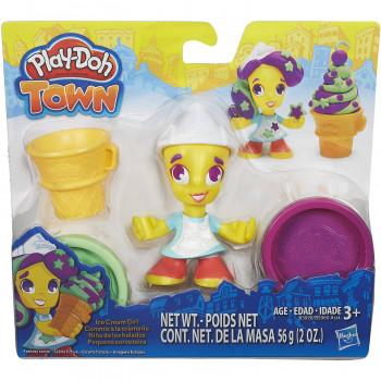 Ciudad de Play-Doh Ice Cream Girl-630509394272-0