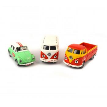 Coca-Cola Escala 1/72 VW Fundido Coches Pack de 3: Samba Bus, Escarabajo, T1 Pickup (Coleccionables, Vehículos de Juguete) - -687312583850-0