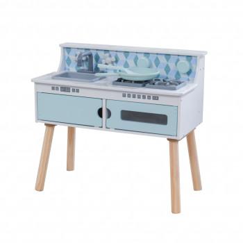 Cocina de juguete en madera KidKraft juega y guarda-706943534472-0