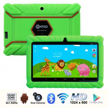 """Contixo 7"""" Kids Tablet K2   Android 6.0 Bluetooth WiFi de la Cámara para Niños Bebé Niños Niños de Control Parental w/Niño-a Prueba de Casos de Protección (Verde)-731642723988-0"""
