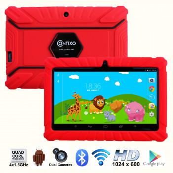 """Contixo 7"""" Kids Tablet K2   Android 6.0 Bluetooth WiFi de la Cámara para Niños Bebé Niños Niños de Control Parental w/Niño-a Prueba de Casos de Protección (Rojo)-731642724138-0"""