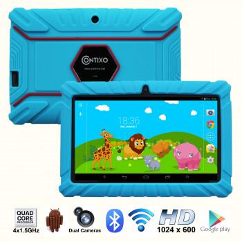 """Contixo 7"""" Pantalla HD de los Niños de la Tableta de 8 gb, Bluetooth, Wi-Fi, más de 20 Juegos Gratis, Niños a Colocar el Control Parental, el Niño-a Prueba de Caso (Azul)-731642723971-0"""