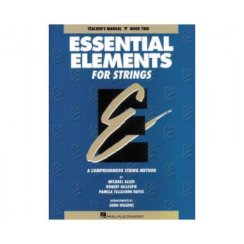 Elementos esenciales de Hal Leonard para cuerdas libro Manual de profesores 2-73999625547-0