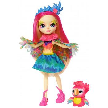 Enchantimals Peeki Parrot Muñeca & Sheeny - -684521635974-0