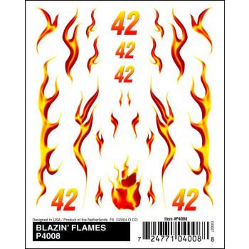 Etiquetas de transferencia en seco, relucen las llamas varios colores-724771040088-0