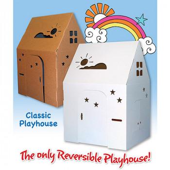 Fácil Playhouse Playhouse de cartón clásico-850339003001-0