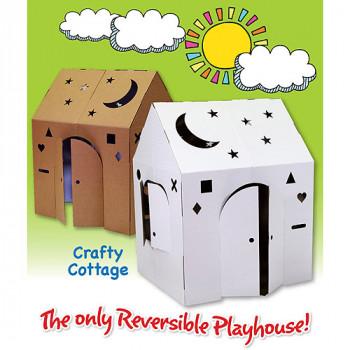 Fácil Playhouse astuto cabaña cartón Playhouse-850339003025-0