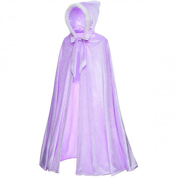 Full Length Deluxe Princess Hooded Cape Cloaks Traje para niñas vestirse 3-12 años - color real: púrpuraCuestos de tela: 5: 12-206254217-w-0