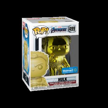 Funko POP! Marvel: Avengers Endgame - W2 - Hulk (Amarillo De Cromo) (Walmart Exclusivo) - -889698413527-0