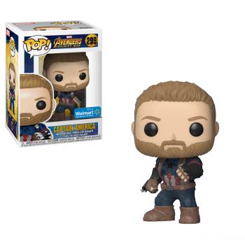 Funko POP! Marvel: Avengers Infinity War - Capitán América Walmart Exclusiva - -889698269063-0