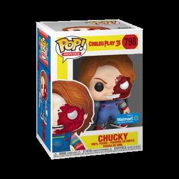 Funko POP Películas: Terror S7 - Chucky la Mitad de la Cara (BD) - Walmart Exclusivo-889698430326-0