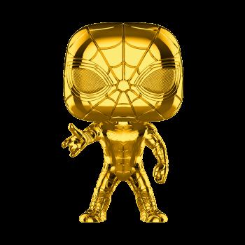 Funko POP de Marvel: MS 10 - Spider-Man (Chrome) - -889698384827-0