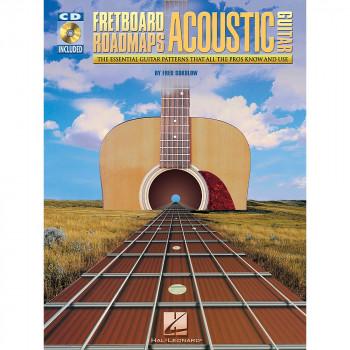 Hal Leonard Fretboard Roadmaps para guitarra acústica libro y CD-884088086008-0