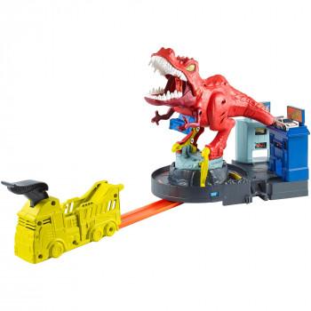 Hot Wheels T-rex Rampage Playset - -887961762563-0