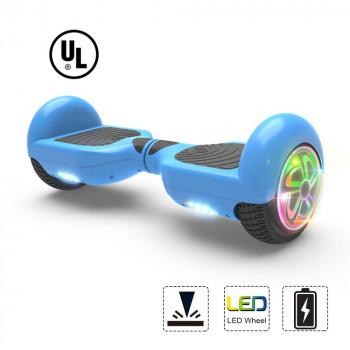 """Hoverboard Flash de la Rueda de la Dos-Rueda de Auto Equilibrio Scooter Eléctrico de 6.5"""" UL 2272 Azul Certificado-819518021960-0"""